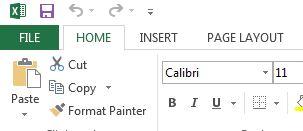 File option in the menu