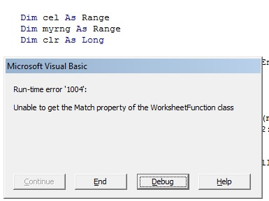 Run-time error with VBA code in Excel 2010
