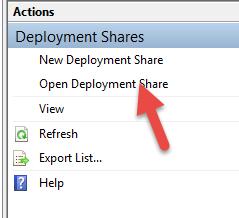 open deployment share