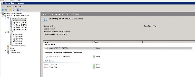 SQL Cluster Config Screenshot