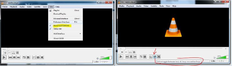 VLC Advanced controls
