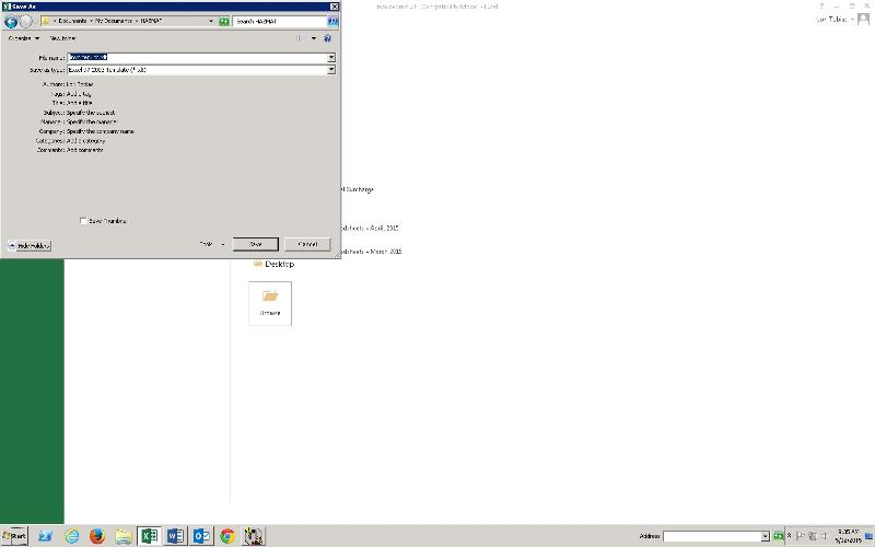 Screen Shot showing missing file selection window