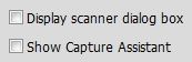 Scan or Get Photo checkboxes