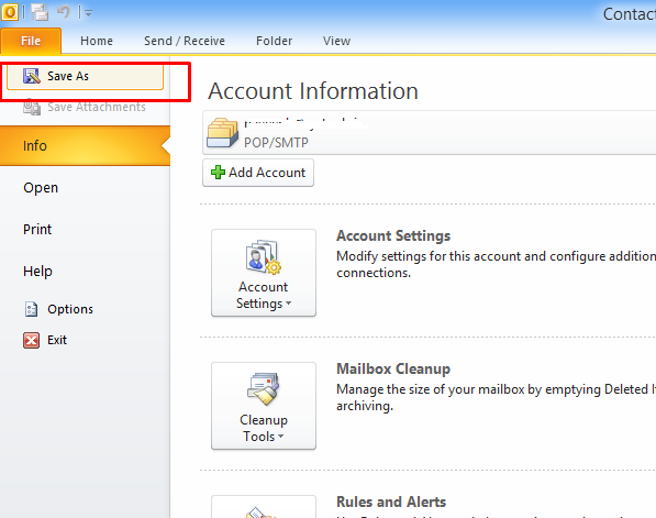 How to Export all contacts from outlook to vCard