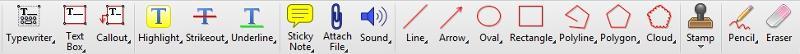 PDF-XChange Editor editing tools