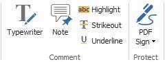 Foxit Reader editing tools