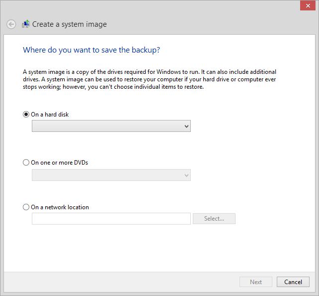 System Image Backup GUI
