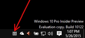 W10 Windows Defender icon system tray