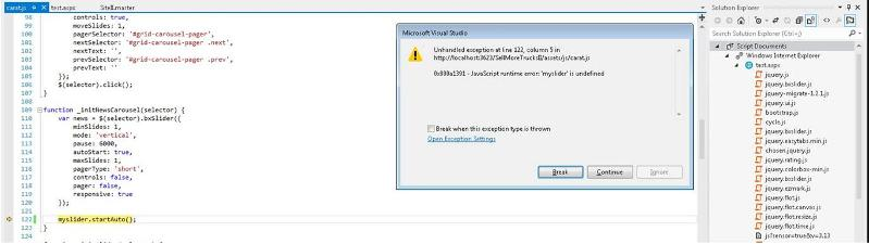 myslider error