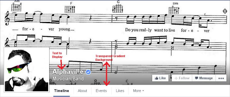 Facebook Transparent Gradient Background..