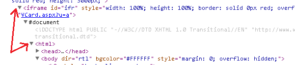 The content of the iframe is any html document