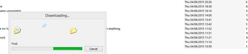'downloading...' box