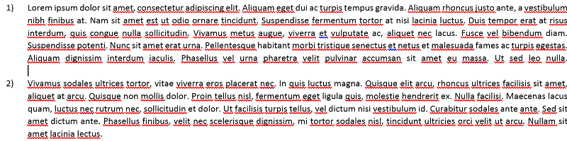 Paragraph with line