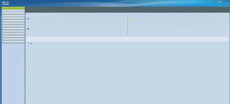 View of Web Interface after logon