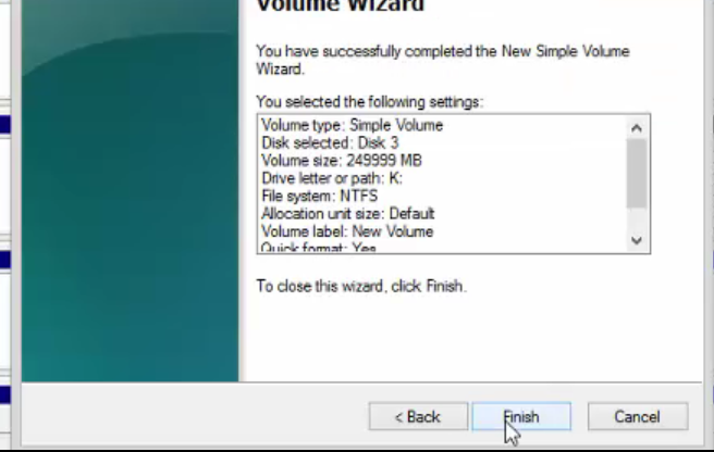 complete the wizard and let it format the drive
