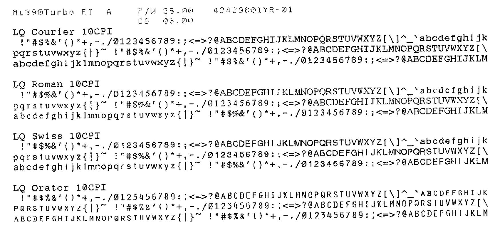 Dot Matrix Printer Not Printing Correctly