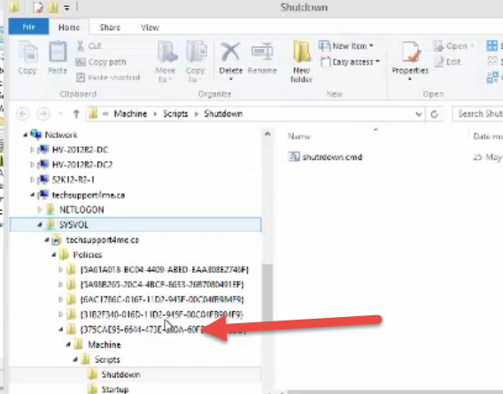 note the location and that it is saved in a folder which uses a GUID {...}