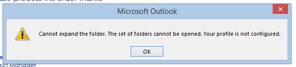 Cannot View Public Folders in Outlook, get