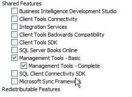 SQL Shared features