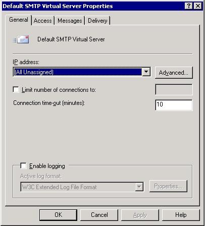 SMTP Virtual Server