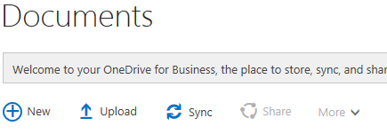 Sync install otption from my.sharepoint site
