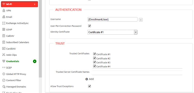 Wi-Fi Trusted Certificates