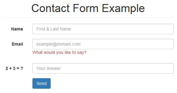 Contact form picture