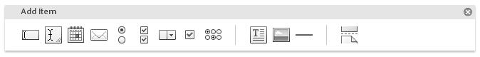 Adobe FormsCentral Add Item