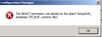 SOLUTION] SCCM 2012 R2 upgrade to SP1 - SQL Error Message
