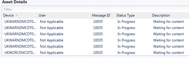 SCCM 2012 R2 - Package Deployment - Message ID 10035 Waiting