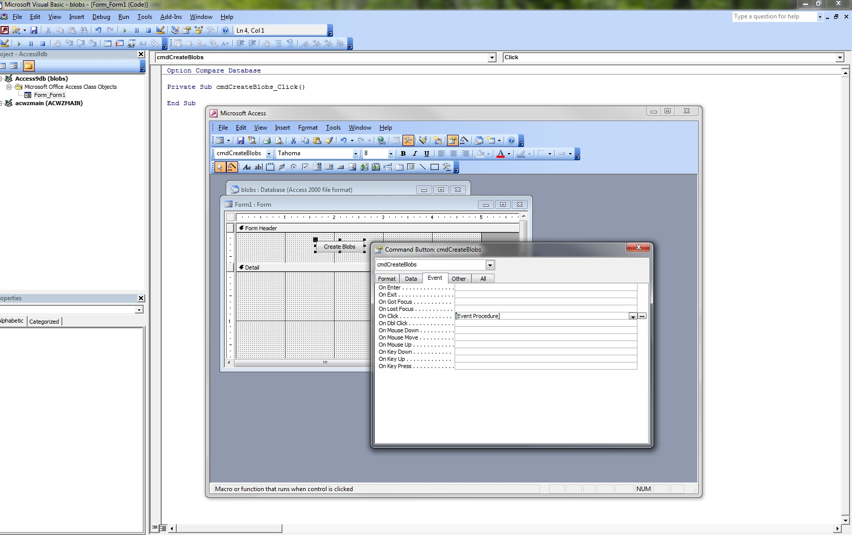 Access 2010 - Store JPG as OLE Object using filename path