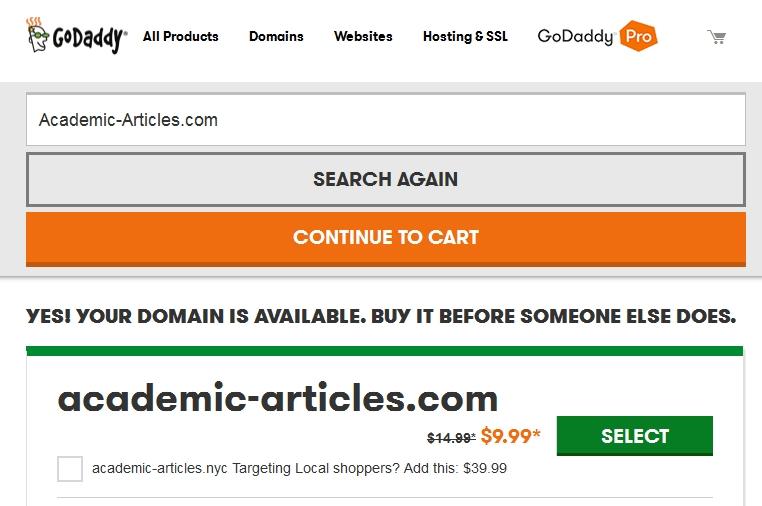 Academic-Articles domain