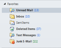 Or use one of the favorites - like unread mail - click on it and then do the search