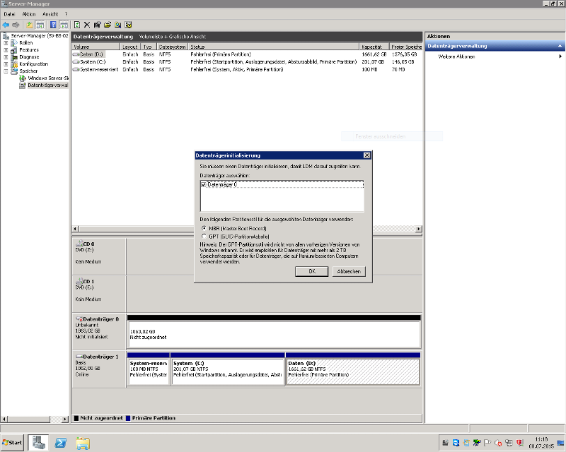 After new start in Windows Server 2008 R2
