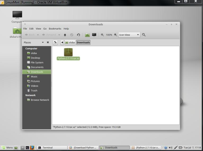 Upgrade Python 2 7 6 to Python-2 7 10 on Linux Mint OS