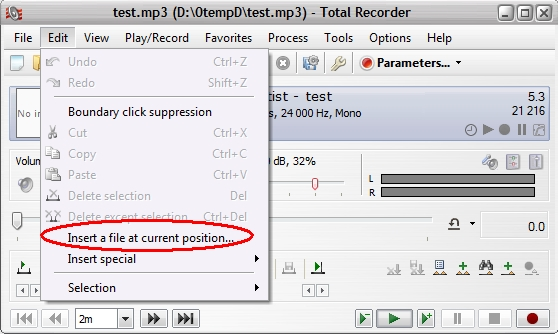 Total Recorder insert file
