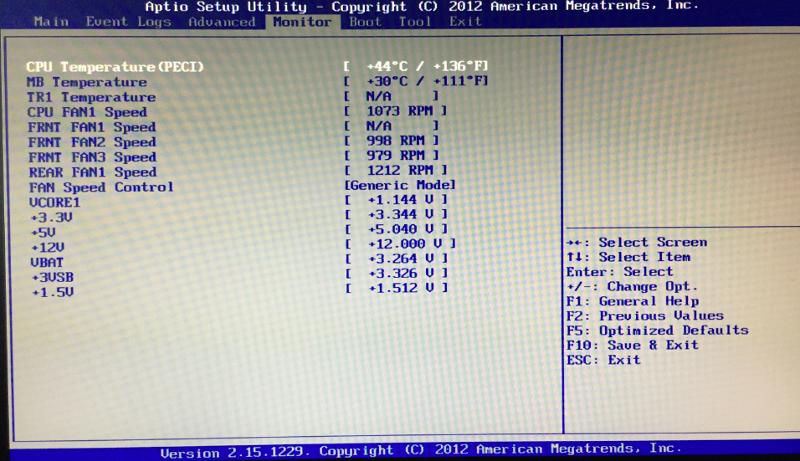 BIOS CPU temp