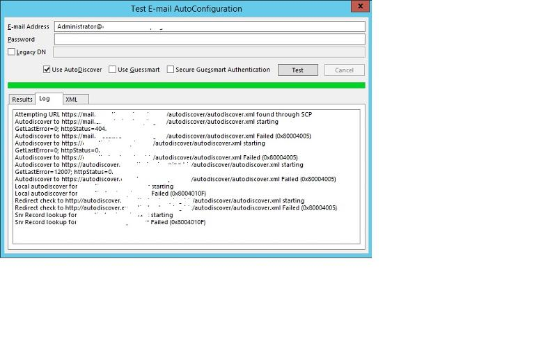 Test E-Mail AutoConfig
