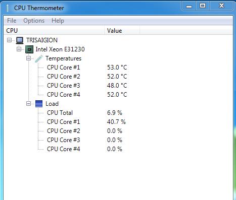 Windows 7 CPU temp