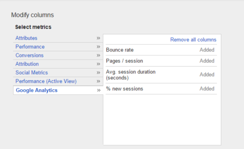 google analytics in adwords