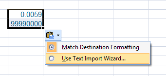 Use Text Import Wizard