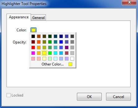 Adobe Reader XI Highlighter Tool Properties.jpg