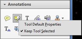 Tool Default Properties