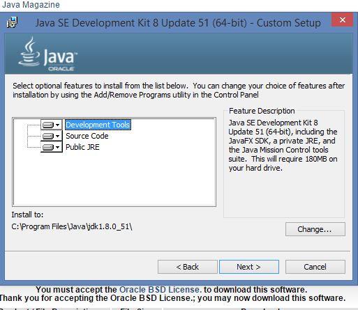 Java optional intalls