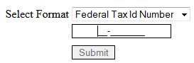federal tax id mask applied to textbox