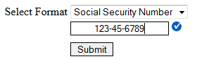 my validation rules working on social security format