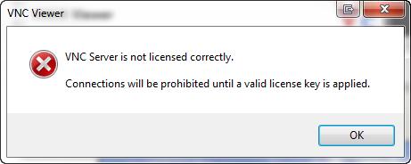 VNC installation error: