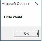 Run Outlook 2010 Macro via QAT icon