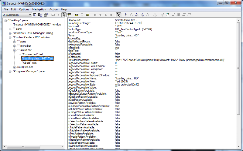 Screenshot showing second text control highlighted