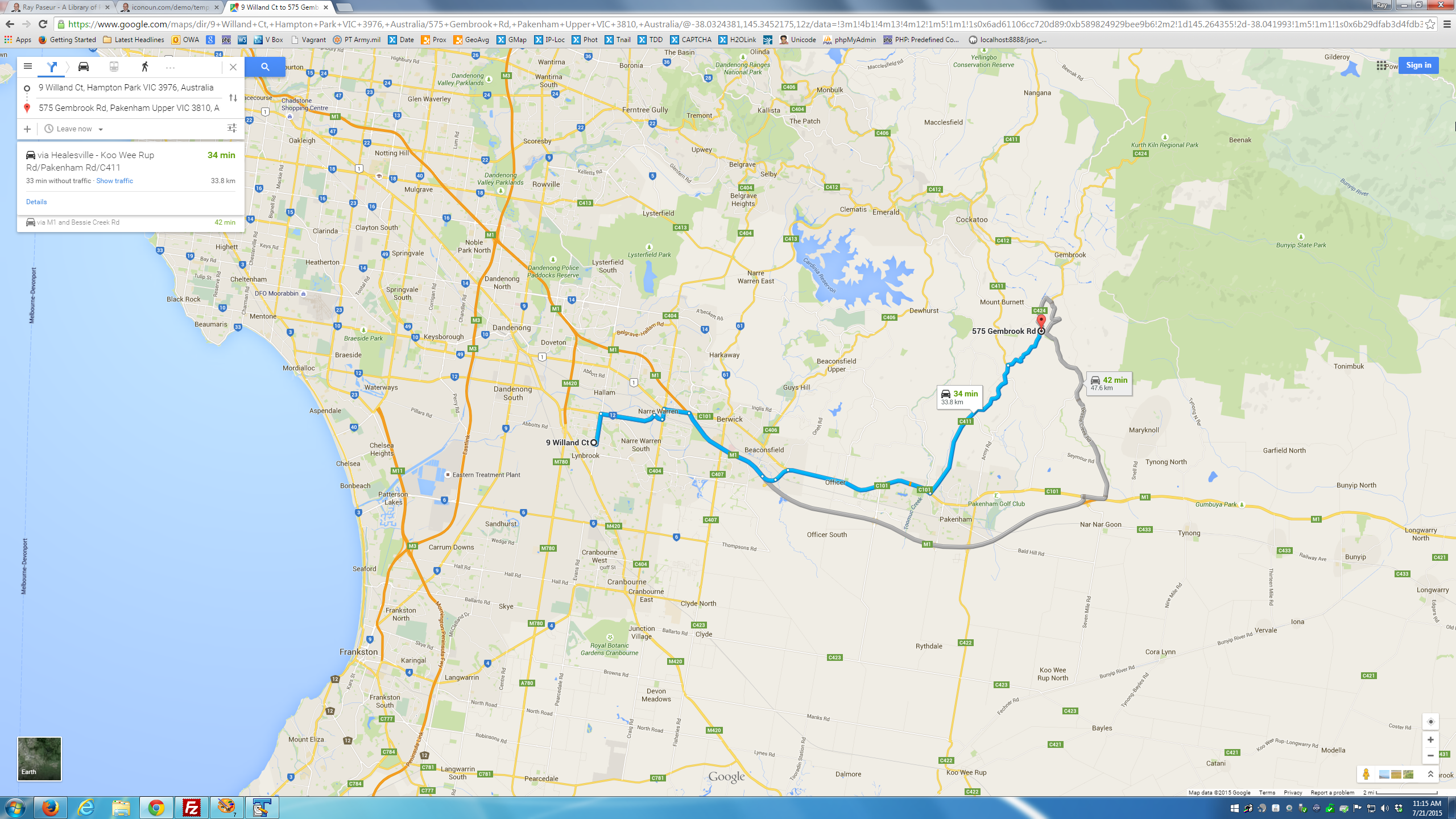 [SOLUTION] distance between 2 points google maps